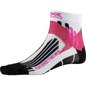 X-Socks Run Speed Two Naiset juoksusukat , valkoinen